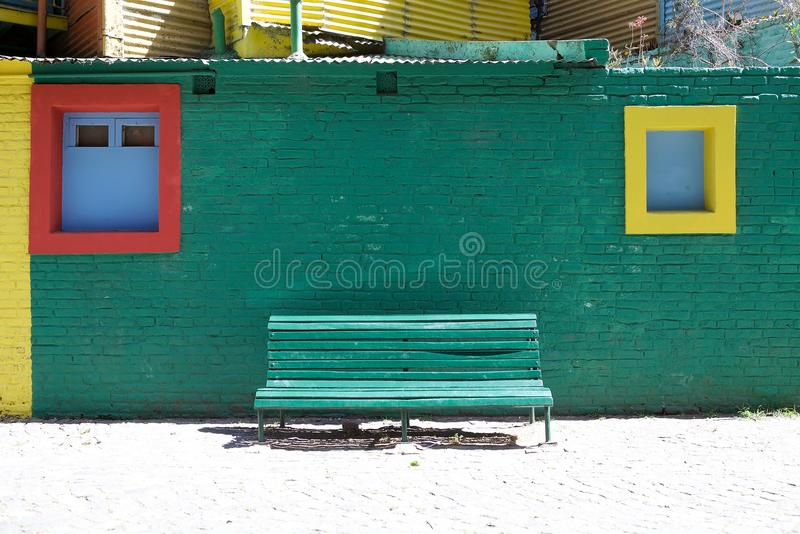 Caminito在拉博卡,布宜诺斯艾利斯,阿根廷 库存图片