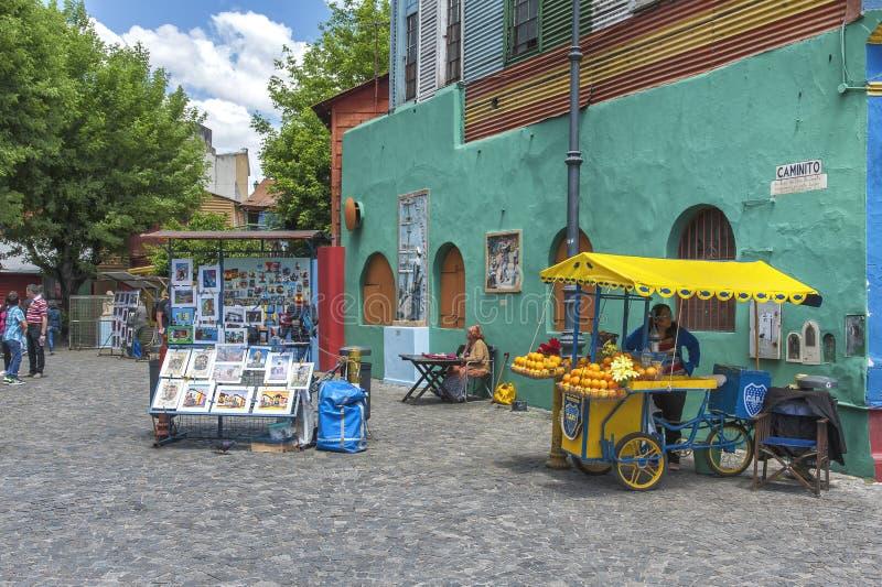 Caminito的不可思议的颜色 免版税库存照片