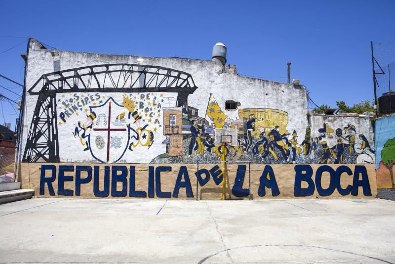 Caminito街道在拉博卡,布宜诺斯艾利斯,阿根廷 库存照片