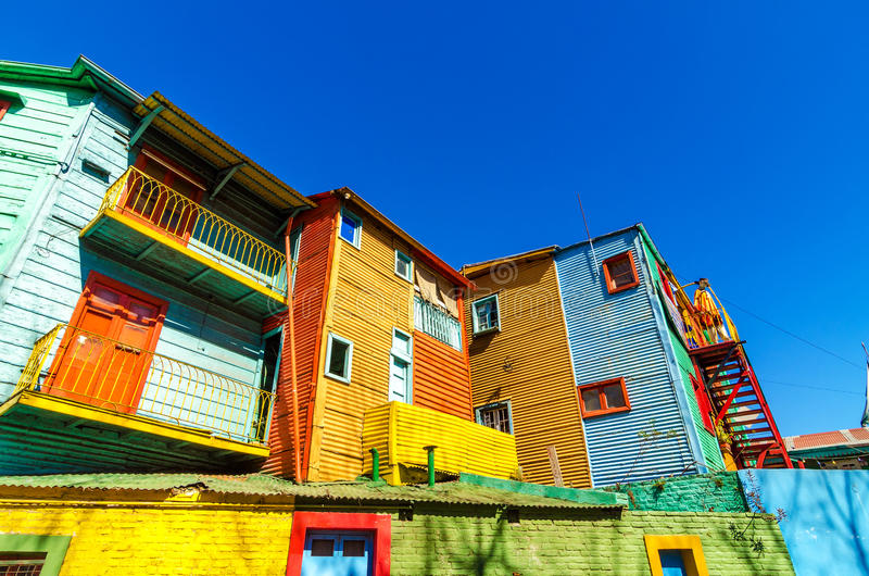 Caminito в Буэносе-Айрес стоковая фотография rf