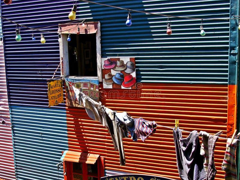 Caminito, Buenos Aires imagen de archivo