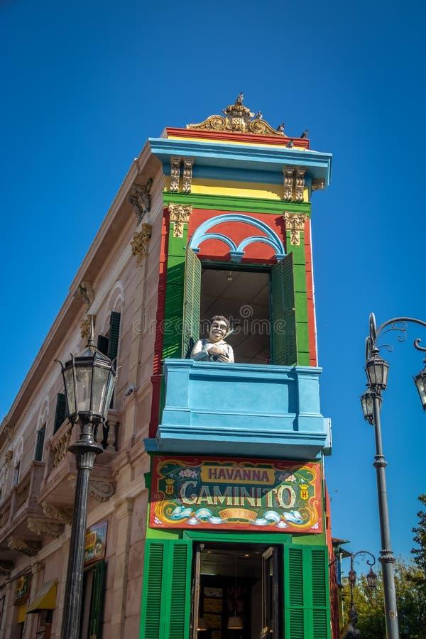 Caminito colorido en la vecindad de Boca del La - Buenos Aires, la Argentina fotografía de archivo