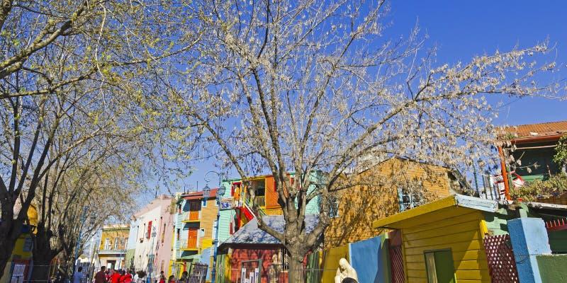 Caminito dans le secteur de Boca de La, ville de Buenos Aires, Argentine photographie stock