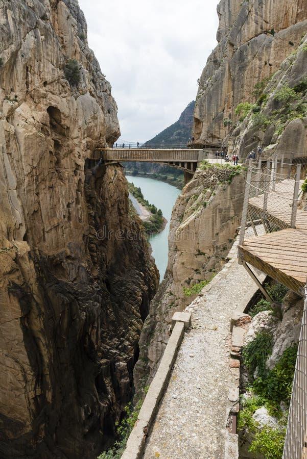 Caminito DE Rey - Spanje royalty-vrije stock foto