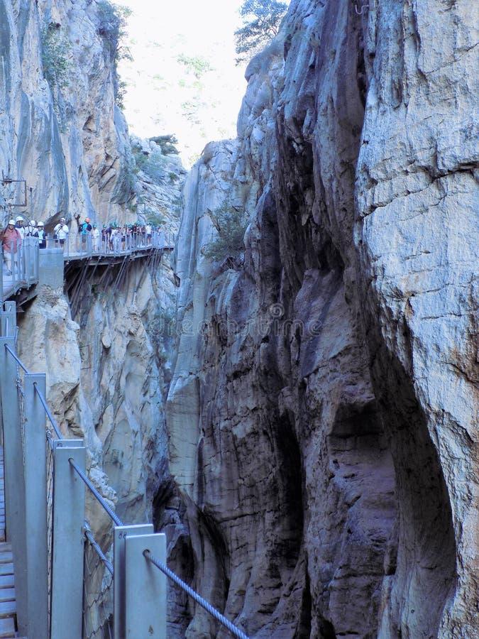 Caminito del Rey Andalusia arkivbild