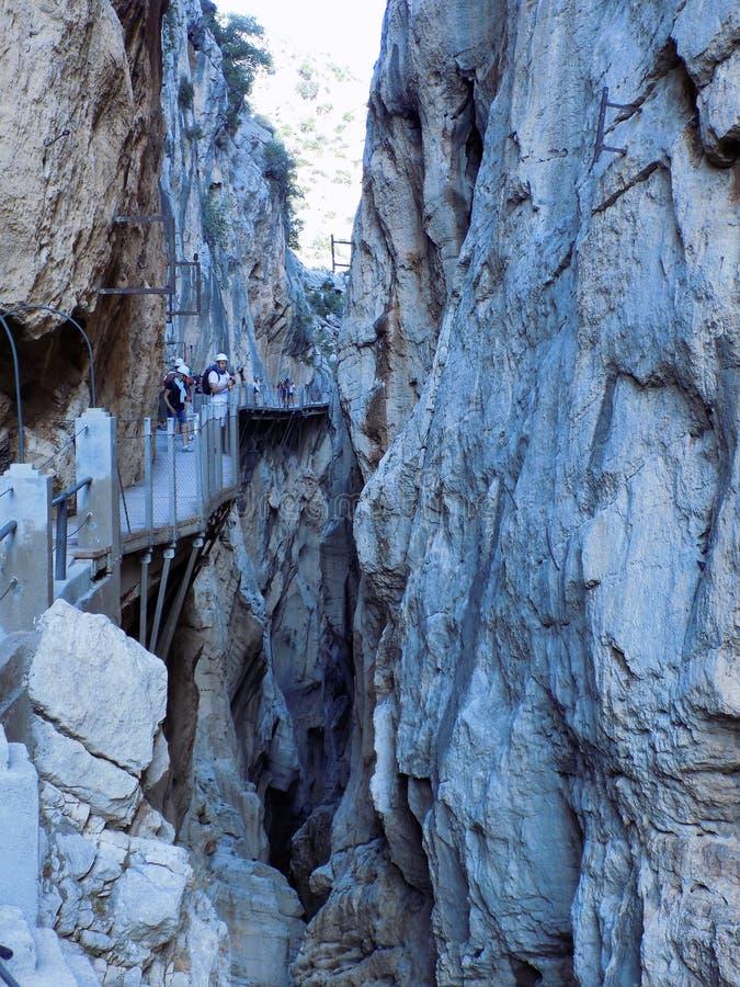 Caminito del Rey Andalusia royaltyfria foton