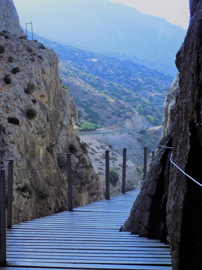 Caminito del Rey Andalusia royalty-vrije stock afbeeldingen