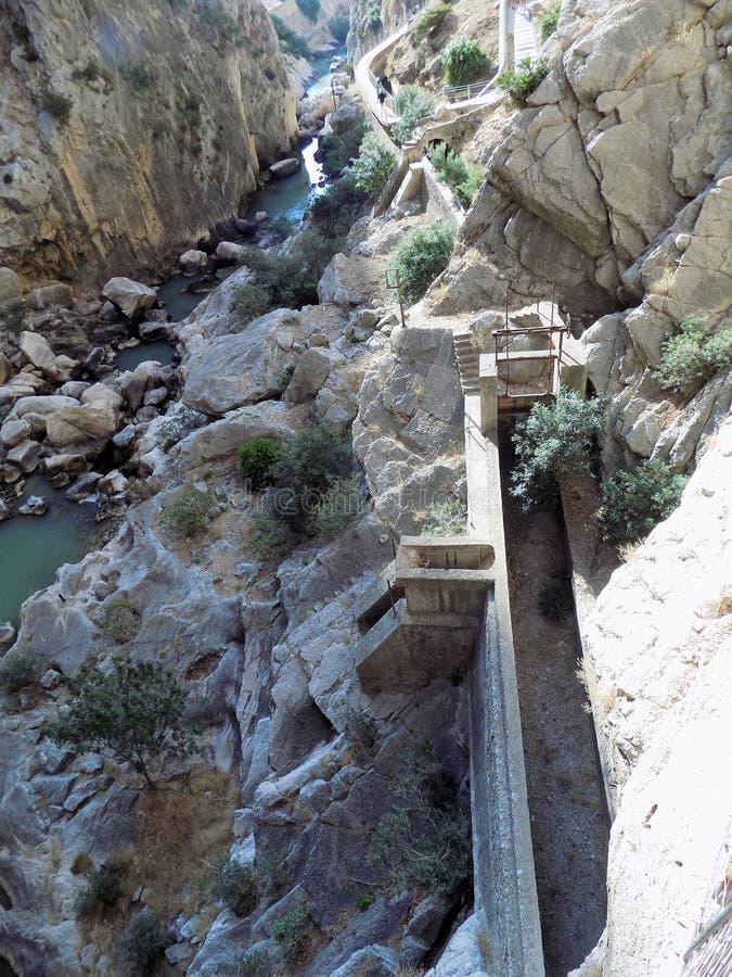 Caminito del Rey Andalusia stock foto