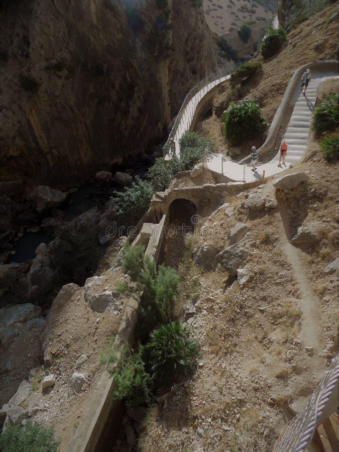 Caminito del Rey Andalusia stock fotografie