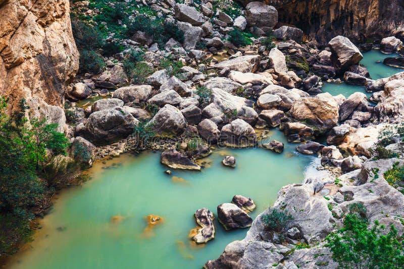 Caminito Del Rey in Andalusia, Spanje royalty-vrije stock afbeelding