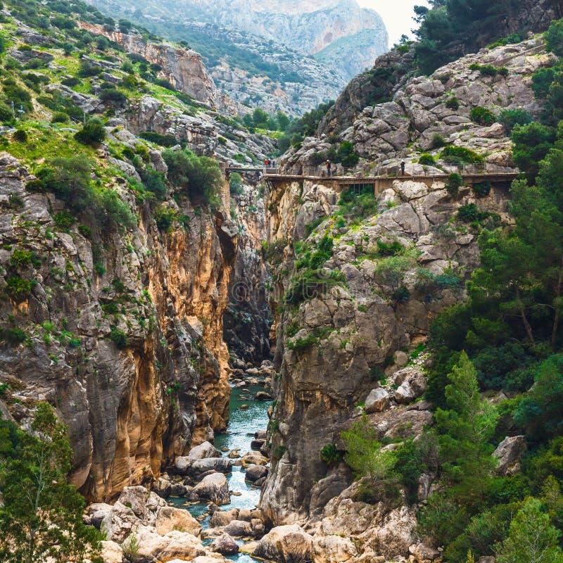 Caminito Del Rey in Andalusia, Spanje royalty-vrije stock foto's