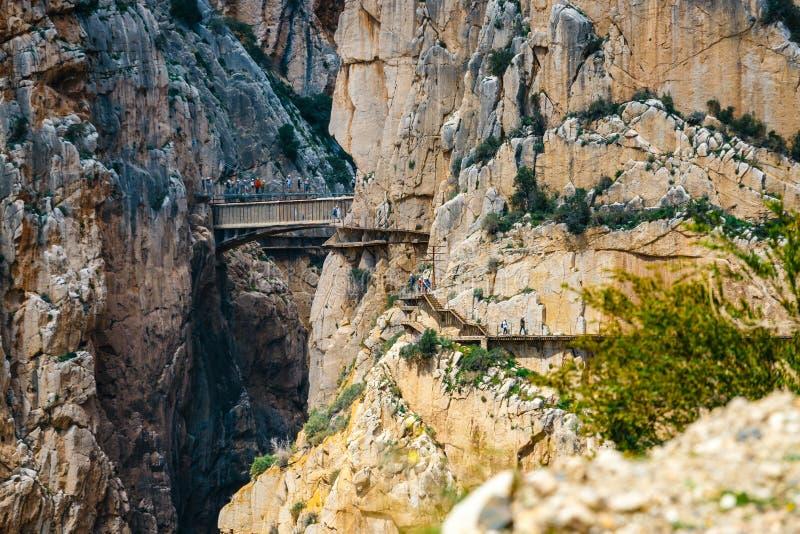 Caminito Del Rey in Andalusia, Spanje royalty-vrije stock afbeeldingen