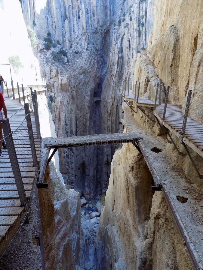 CAMINITO DEL REY. Ardales-Spain royalty free stock images