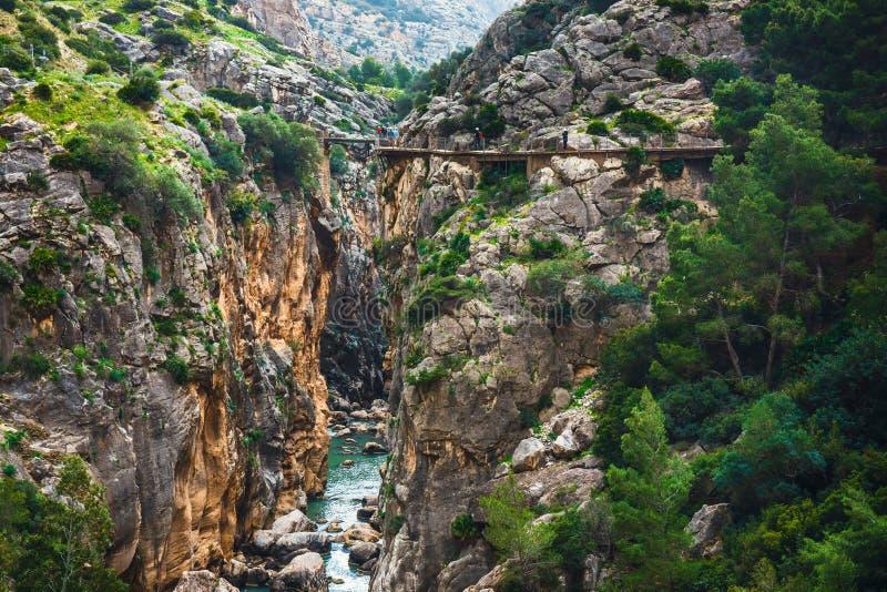 Caminito Del Rey - bergweg in Andalusia, Spanje stock afbeelding