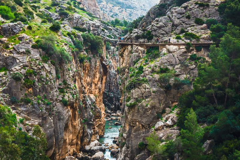 Caminito Del Rey, Espanha imagens de stock