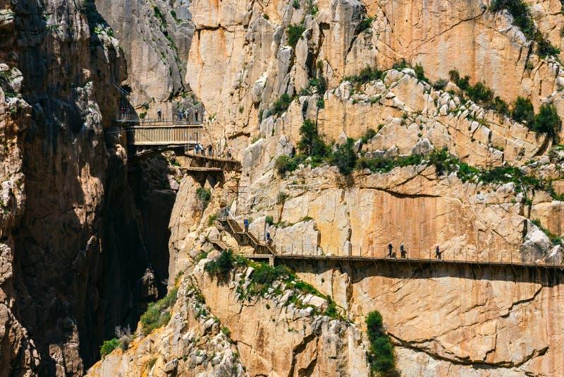 Caminito Del Rey, Espanha imagem de stock royalty free