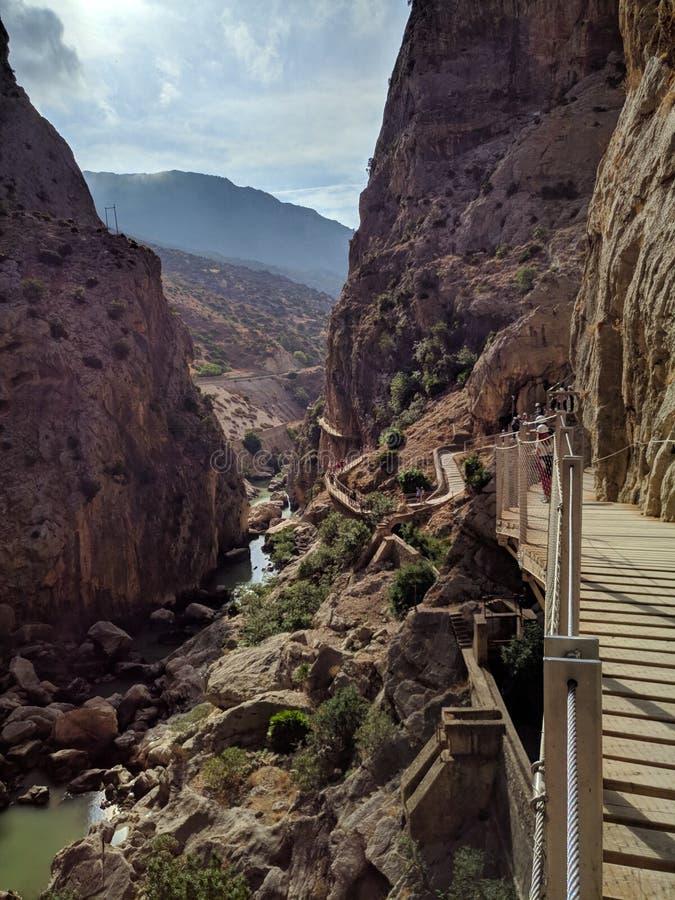 Caminito Del Rey (Hiszpania) obraz stock
