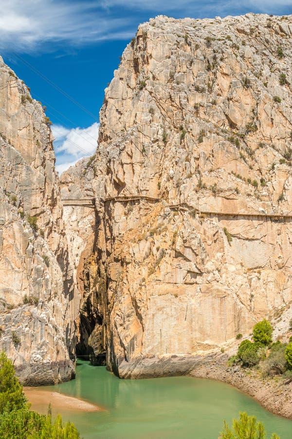 Caminito del Rey i Malaga fotografering för bildbyråer