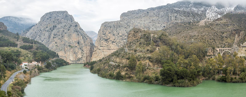Caminito del Rey i Malaga, Spanien royaltyfria bilder