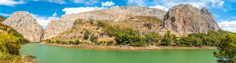 Caminito del Rey in Malaga royalty free stock image