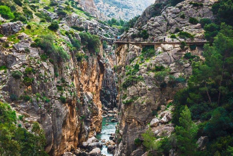Caminito Del Rey, Spagna immagini stock