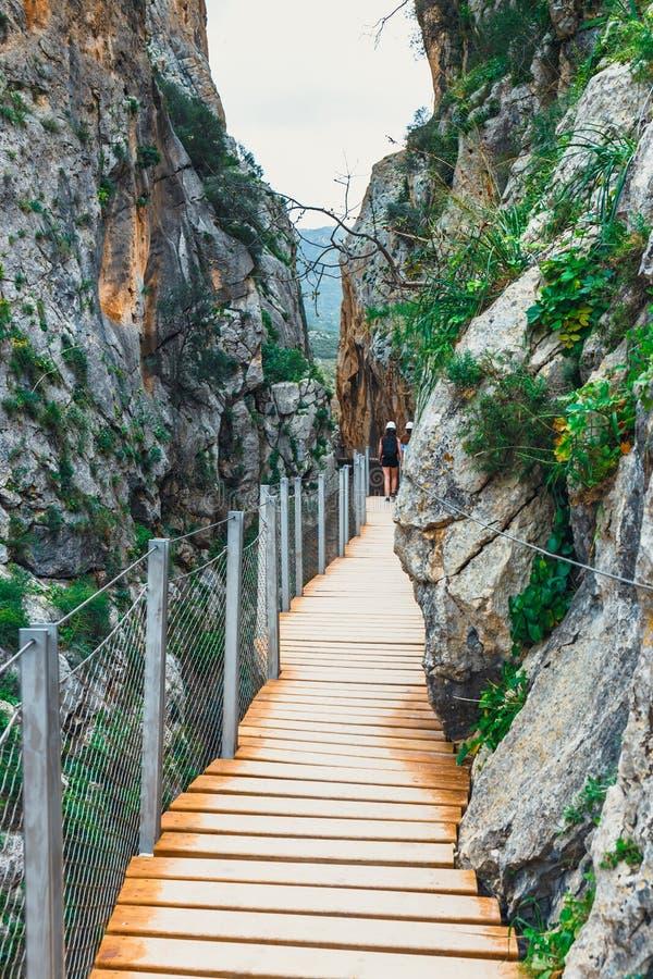 Caminito Del Rey, Spanje stock afbeelding
