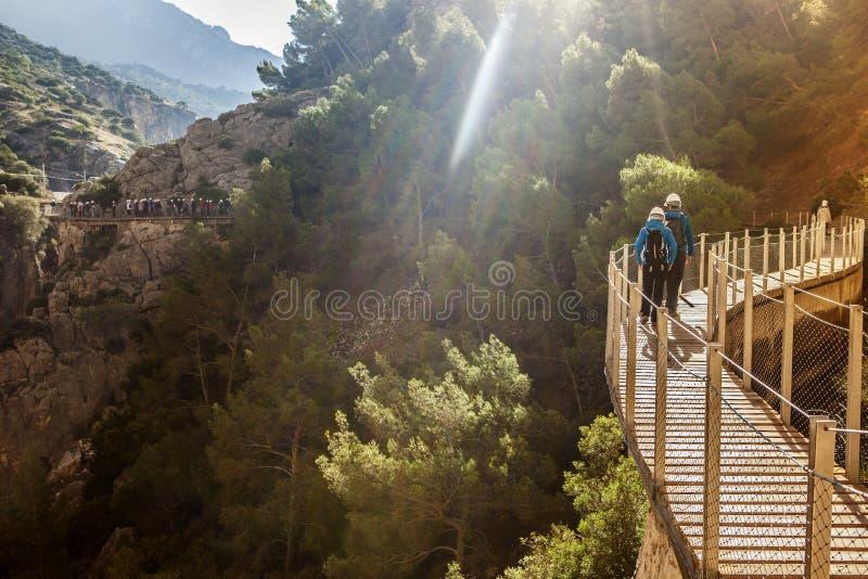 Caminito del Rey weg stock foto