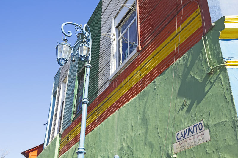 Caminito, district de Boca de La, Buenos Aires, Argentine images stock