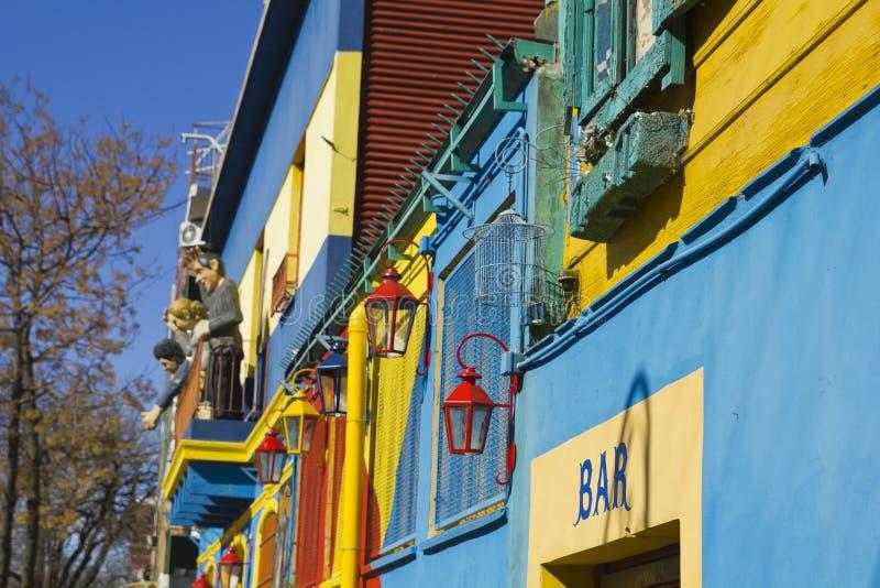 Caminito, distrito de Boca do La, Buenos Aires, Argentina imagens de stock