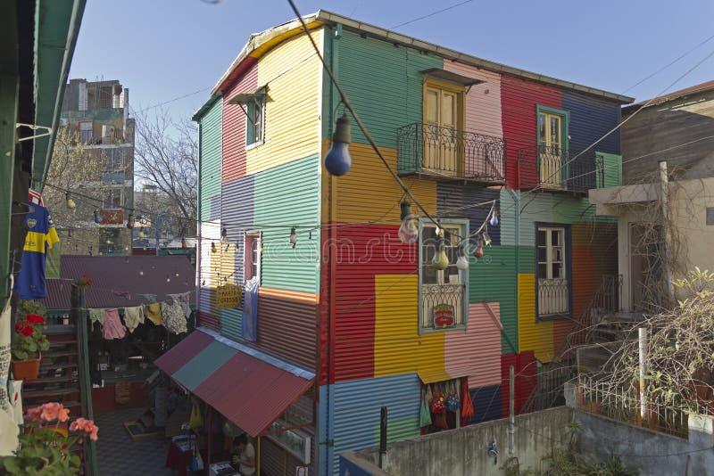 Caminito, het district van La Boca, Buenos aires, Argentinië stock foto's