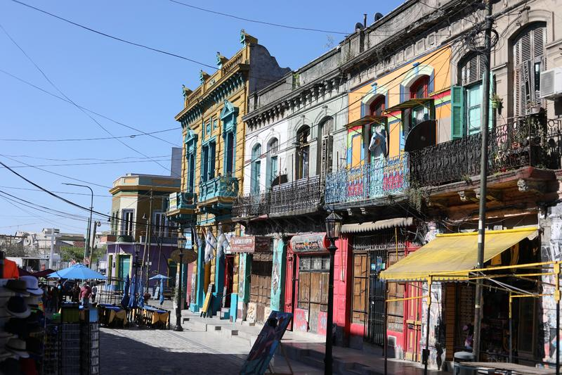 Caminito-La Boca Buenos Aires lizenzfreies stockfoto