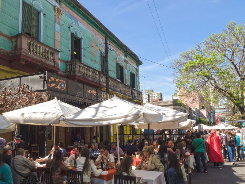 Caminito, La Boca, Buenos Aires fotografía de archivo libre de regalías