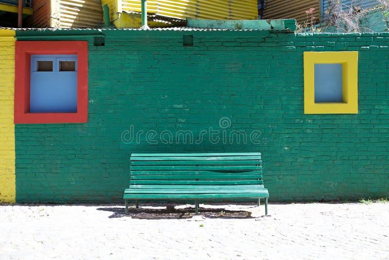 Caminito in La Boca, Buenos Aires, Argentina. Brightly colors along the Caminito, a walkway, in La Boca in Buenos Aires, Argentina. La Boca is a neighbourhood stock image