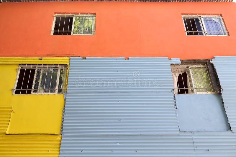 Caminito in La Boca, Buenos Aires, Argentina. Brightly painted house along the Caminito, a walkway, in La Boca in Buenos Aires, Argentina. La Boca is a stock photos