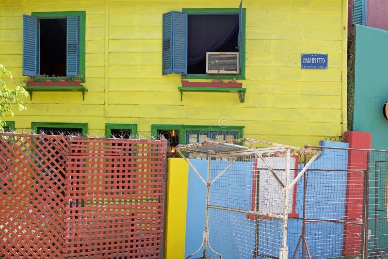 Caminito in La Boca, Buenos aires, Argentinië stock foto's