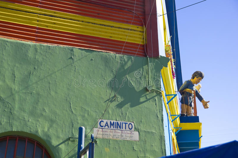 Caminito in La Boca, Buenos Aires city, Argentina. royalty free stock photos