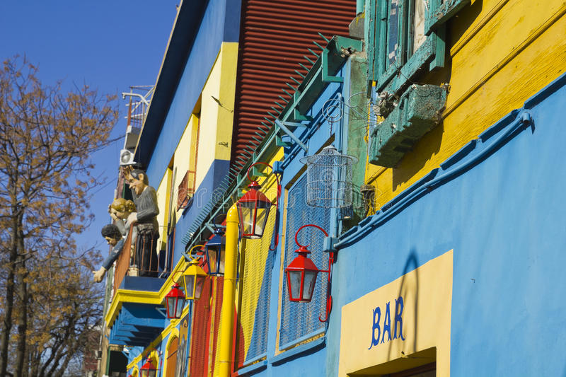 Caminito, La Boca district, Buenos Aires, Argentina. Caminito, a traditional alley, of great cultural and tourism, in the district of La Boca in Buenos Aires stock images