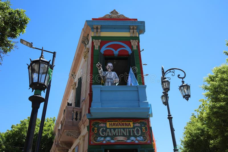 Caminito, one of the most famous streets in the quarter La Boca in Buenos Aires. Argentina royalty free stock images