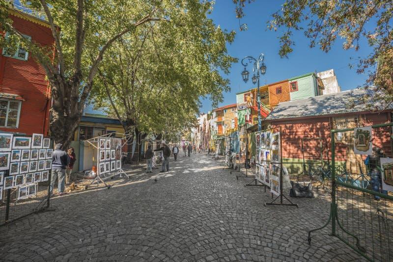 Caminito street in Buenos Aires, Argentina. stock photo