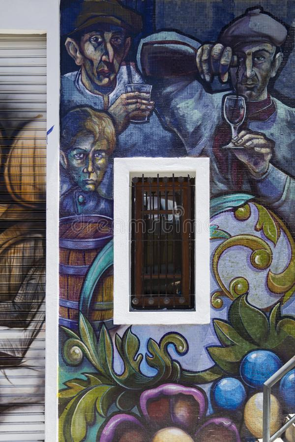 Caminito street in La Boca, Buenos Aires, Argentina. Detail from Caminito street in La Boca, Buenos Aires, Argentina. This 100m long traditional alley full of royalty free stock photography