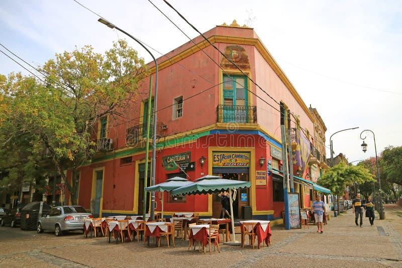 Caminitosteeg in La Boca Neighborhood, Één van de Populairste Toeristenbestemmingen in Buenos aires, Argentinië royalty-vrije stock fotografie