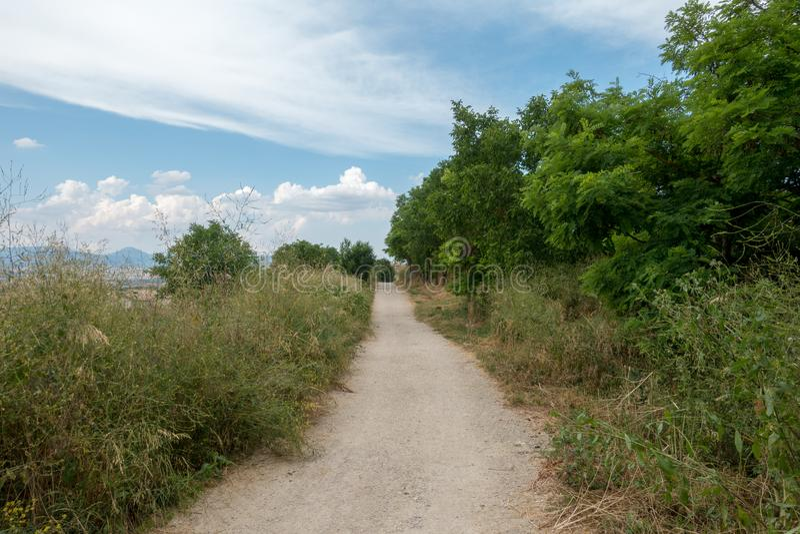 Camino圣地亚哥在高度饶恕 图库摄影