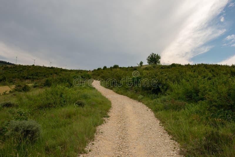 Camino圣地亚哥在高度饶恕 库存图片