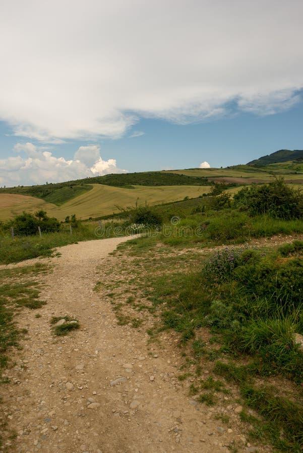 Camino圣地亚哥在高度饶恕 库存照片