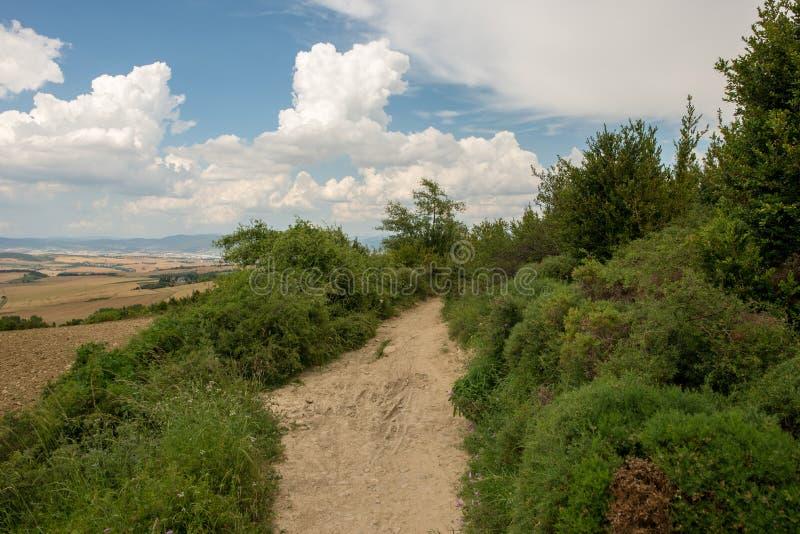 Camino圣地亚哥在高度饶恕 免版税库存图片