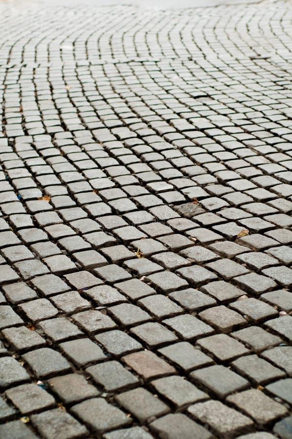 Camino áspero del pavimento del guijarro fotografía de archivo