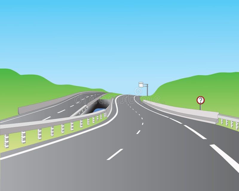 Camino ilustración del vector