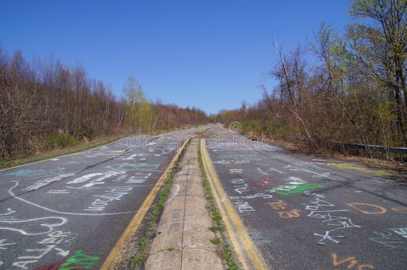 Camino abandonado de Centralia, PA foto de archivo libre de regalías