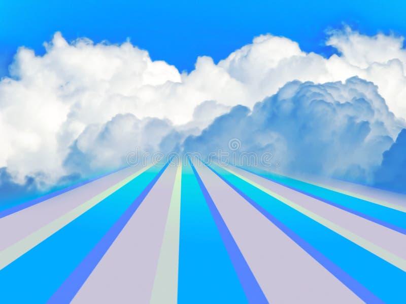 Camino al cielo libre illustration