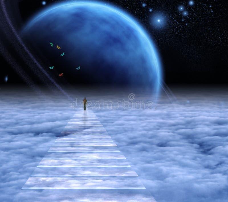 Camino al cielo ilustración del vector